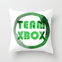 xbox Throw Pillows featuring Team XBox by Bradley Bailey