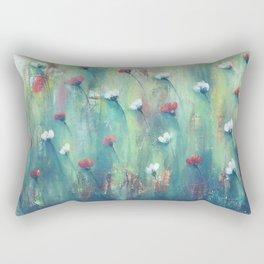 Dancing Field of Flowers Rectangular Pillow