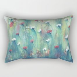 Dancing Field of Flowers Rectangular Pillow