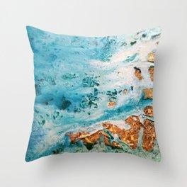 Sea and golden sand Throw Pillow