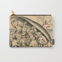 """Pieter van der Heyden """"The oyster shell - Merrymakers"""" After Hieronymus Bosch Carry-All Pouch"""