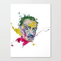 salvador dali Canvas Prints featuring Salvador Dali by Liam Reading
