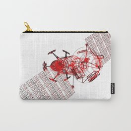 Explorer Schematic Red on White Carry-All Pouch