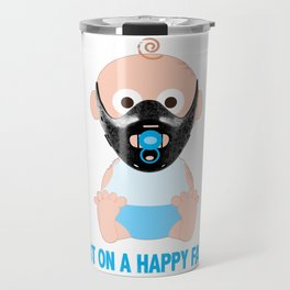 Put on a Happy Face Travel Mug