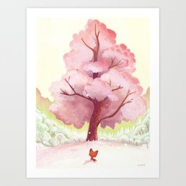 The pink tree Art Print