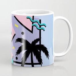 Memphis Pattern 25 - Miami Vice / 80s Retro / Palm Tree Coffee Mug