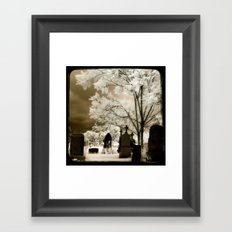 Secret Graveyard Framed Art Print