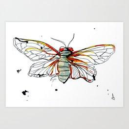 Cicada I Art Print