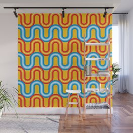 Neon Tubes Wall Mural