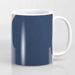 Gold meets Navy Blue & White Geometric #1 #minimal #decor #art #society6 Coffee Mug