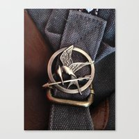 mockingjay Canvas Prints featuring Mockingjay by AndyGD