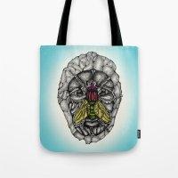 skulls Tote Bags featuring skulls by Hanan Azran