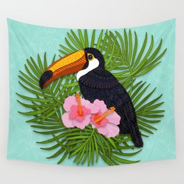Toucan Summer Wall Tapestry