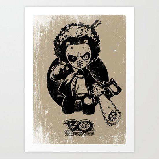 """Bo: Plushy Gangsta """"Friday"""" b/w Art Print"""