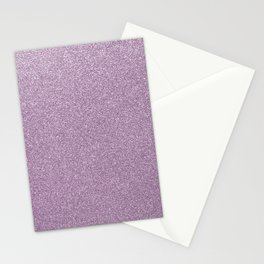 Modern abstract lavender lilac girly glitter Stationery Cards