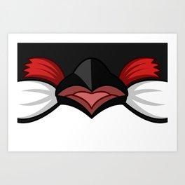 red whiskered bulbul bird graphic art Art Print