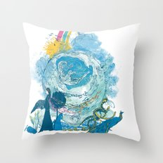 i love my planet 2 Throw Pillow