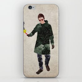 Liam Gallagher watercolour print iPhone Skin
