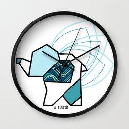 Elephant origami geometric Wall Clock
