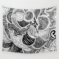 doodle Wall Tapestries featuring Doodle by Anchobee