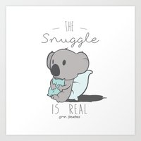 Koala Snuggle Art Print