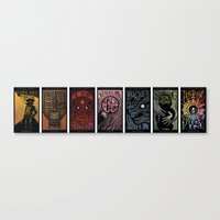 dark tower Canvas Prints featuring The Dark Tower Cycle by Alex Rodway Illustration
