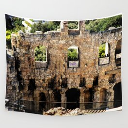 Greek Ruins Wall Tapestry