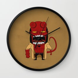 Screaming Helldude Wall Clock