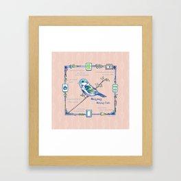 Lovely Sparrow - Mahjong Framed Art Print