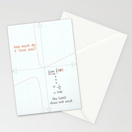 the limit does not exist Stationery Cards