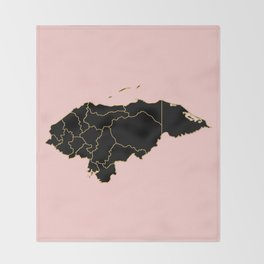 Honduras map Throw Blanket