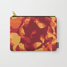 Warm-Toned Peony Carry-All Pouch