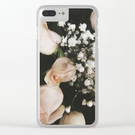 Delicate Breaths Clear iPhone Case