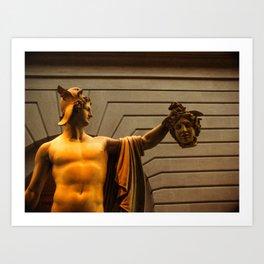 Perseus with Medusa's Head Art Print