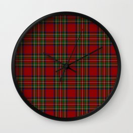 The Royal Stewart Tartan Wall Clock