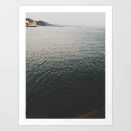 SLO waves Art Print