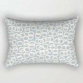 Black Tie Collection Links Grey Rectangular Pillow