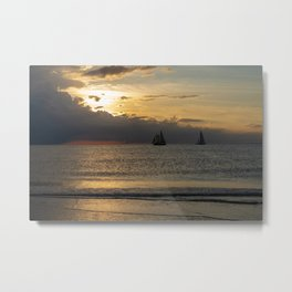 Racing to Beat the Ocean Storm Metal Print