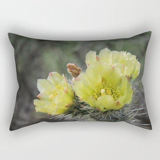 California Cactus Blooms Rectangular Pillow