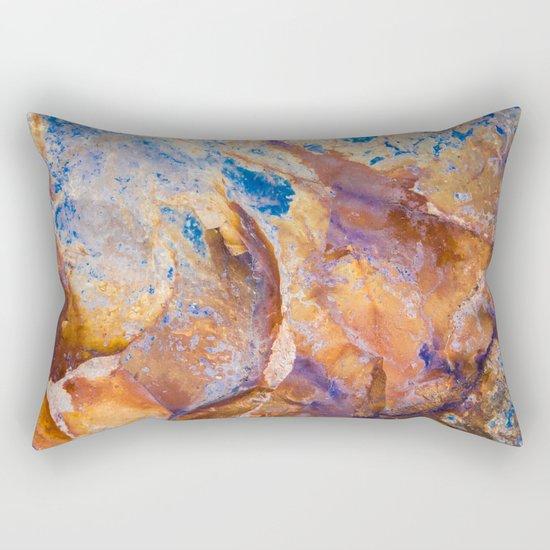 Face of Stone Rectangular Pillow