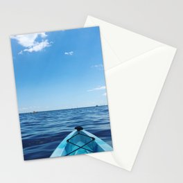 Bright Blue | Kayak on Severn River | Annapolis, MD Stationery Cards