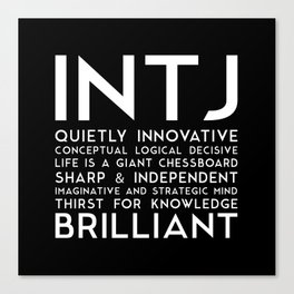 INTJ (black version) Canvas Print