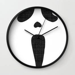 Classic Scary Face Wall Clock