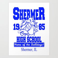 The Breakfast Club  |  Shermer High School Logo  |  John Hughes Universe Art Print