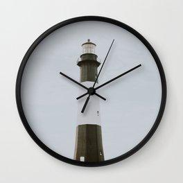 lighthouse iii / tybee island Wall Clock