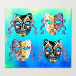 Italian Venetian Carnival Mask Pattern Canvas Print