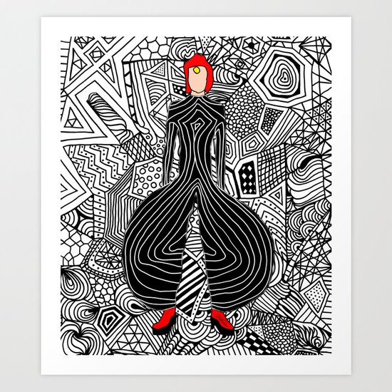 Bowie Fashion 6 Art Print