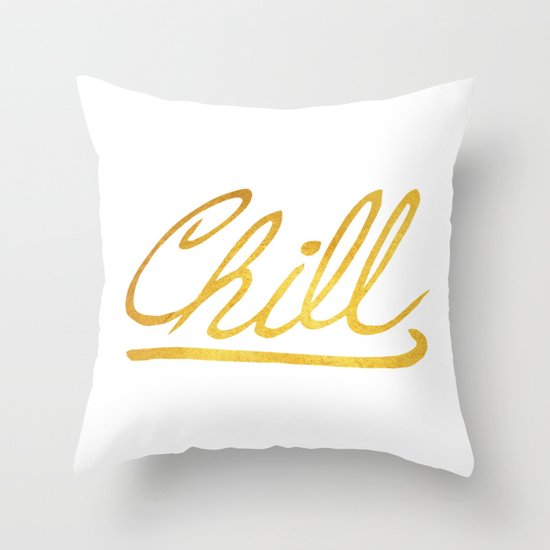 Gold Chill Throw Pillow