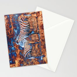 Metallic Zebras Stationery Cards
