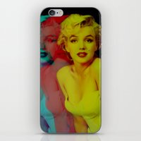 marilyn iPhone & iPod Skins featuring Marilyn  by Laure.B